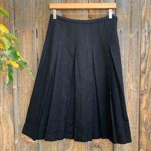 Vintage Pleated Wool Skirt